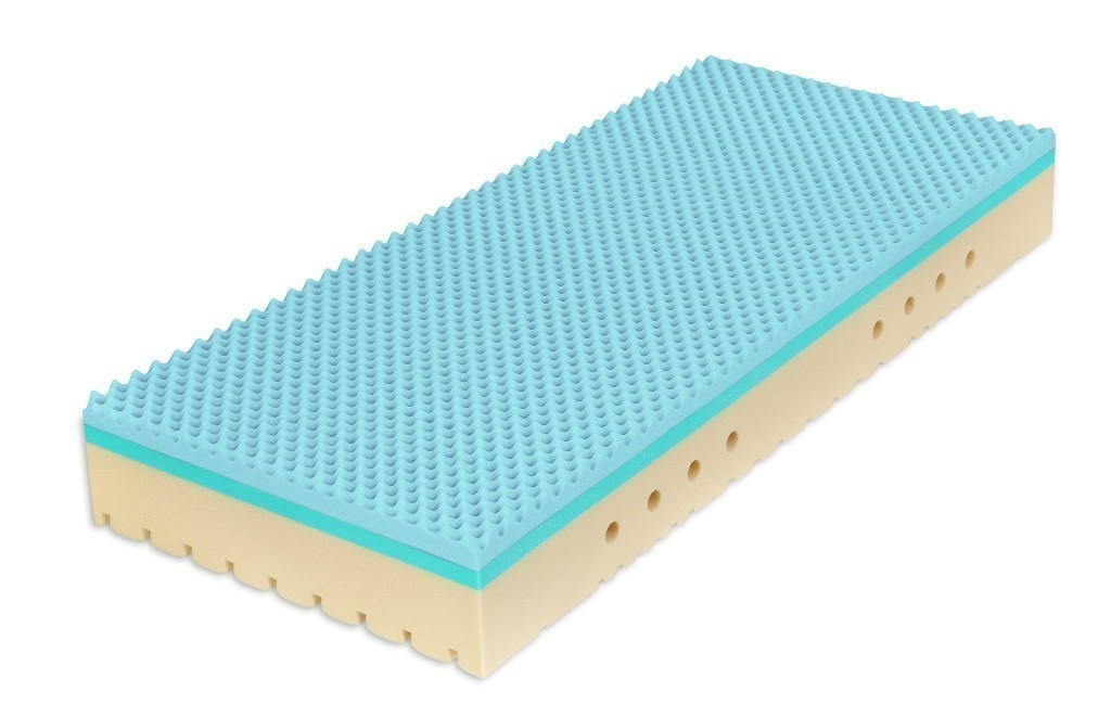 Tropico SUPER FOX BLUE 28 cm - antibakteriálny matrac s hybridnou a HR penou 100 x 220 cm 2 ks, snímateľný poťah