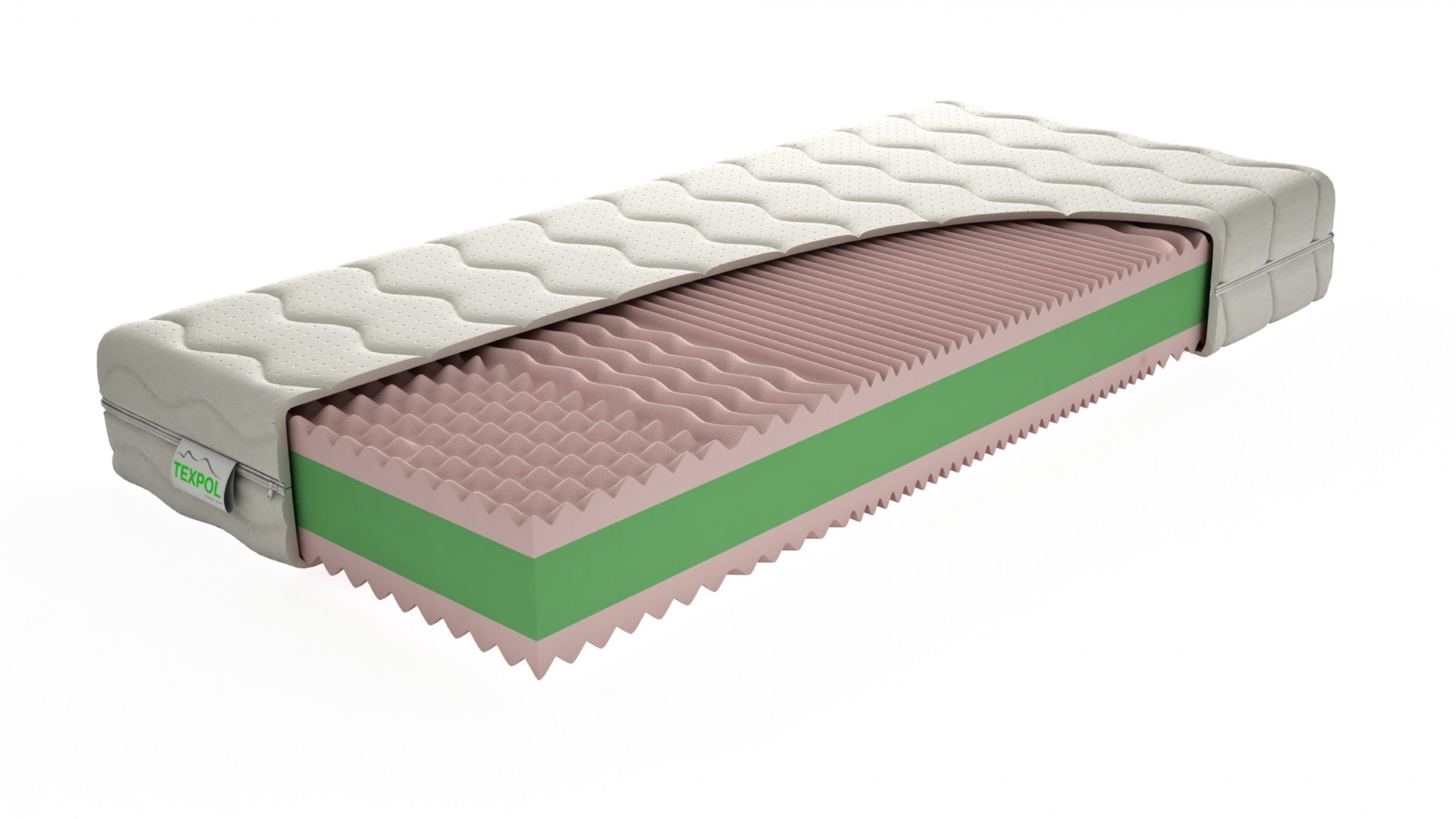 Texpol VEGA - obľúbený sendvičový matrac s poťahom Aloe Vera, snímateľný poťah