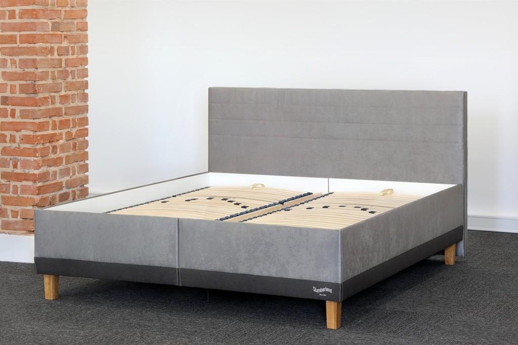 Slumberland BRISTOL - posteľ s úložným priestorom a lamelovým roštom 160 x 200 cm, lamino