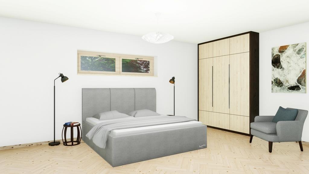Slumberland DOVER MISTRAL - čalúnená posteľ s úložným priestorom 200 x 200 cm, lamino