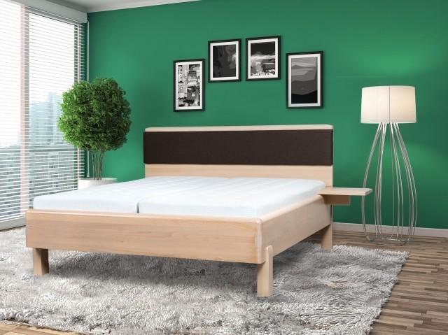 Ahorn Masívna posteľ GALAXY - dizajnové dvojlôžko 180 x 200 cm, drevená škárovka