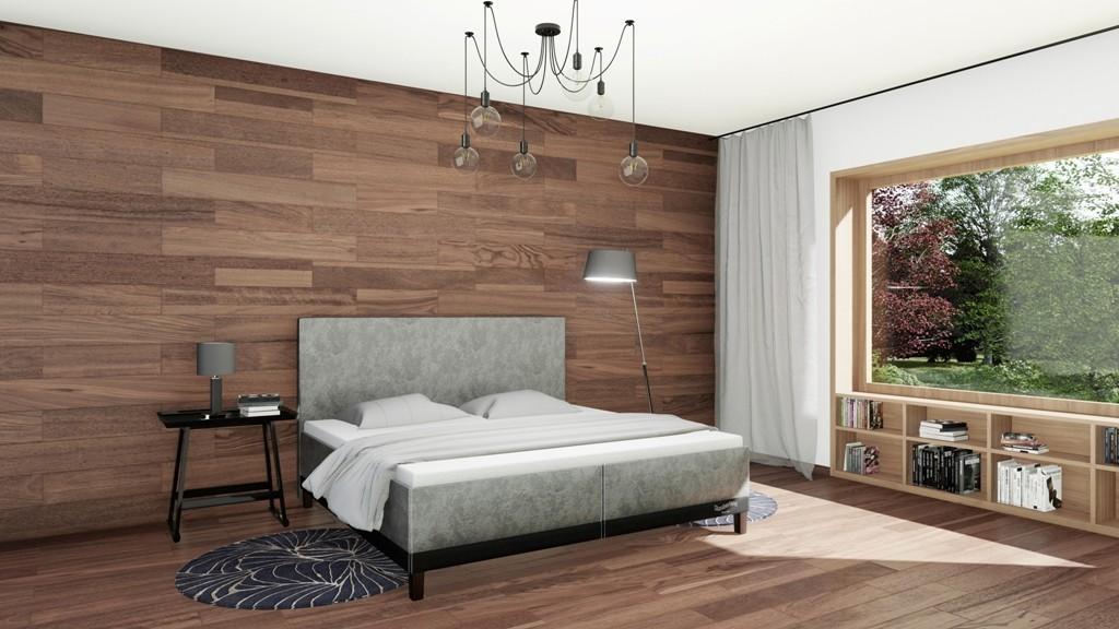 Slumberland HALIFAX - dizajnová posteľ s úložným priestorom 140 x 200 cm, lamino