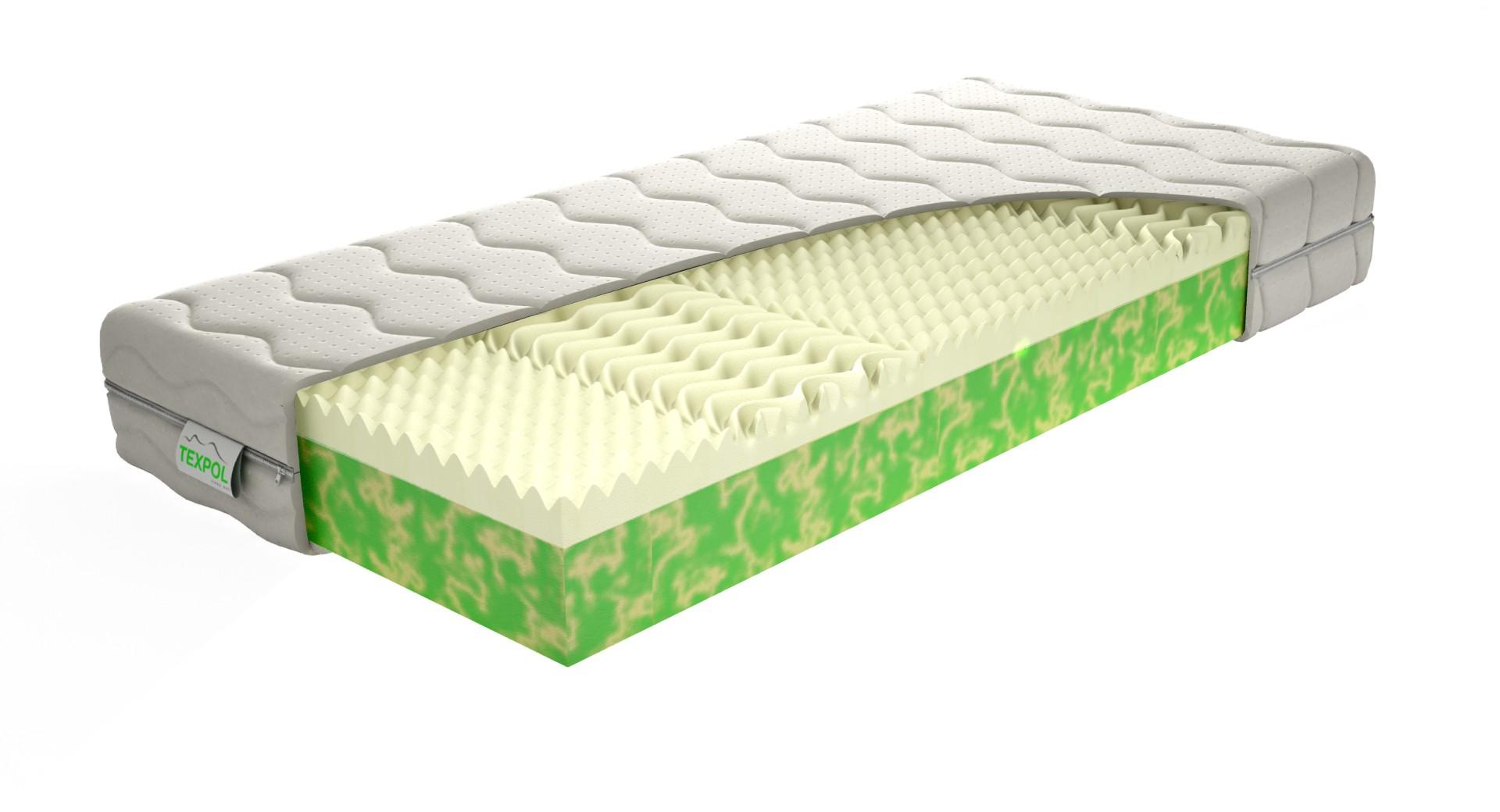 Texpol LYRA BIO - zdravotný matrac s vysokou životnosťou a s poťahom Aloe Vera, snímateľný poťah