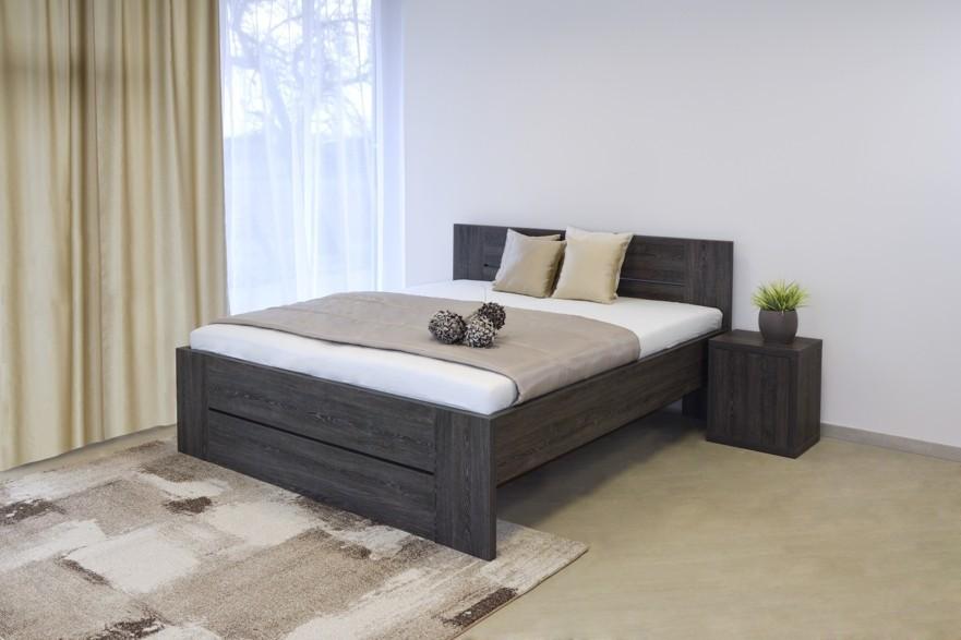 Ahorn LORANO - moderná lamino posteľ s deleným čelom 180 x 200 cm, 38 mm lamino