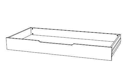 Ahorn Zásuvka DUOVITA - úložný priestor pre rozkladaciu posteľ Duovita dub svetlý/dub hňedý/agát, lamino