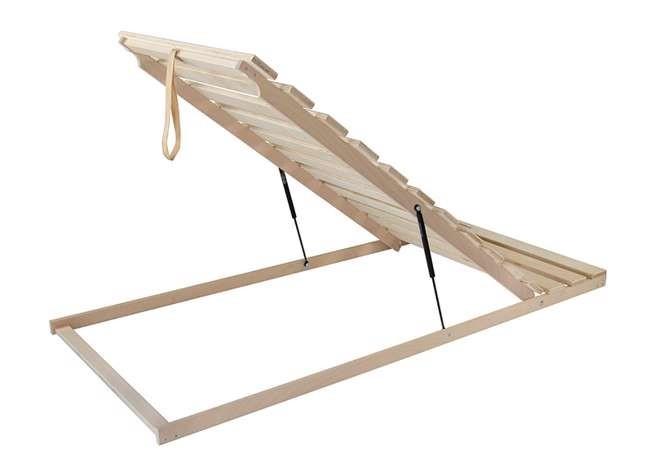 Ahorn Terrus P - výklopný latový posteľný rošt s piestami 70 x 195 cm, brezové laty + brezové nosníky