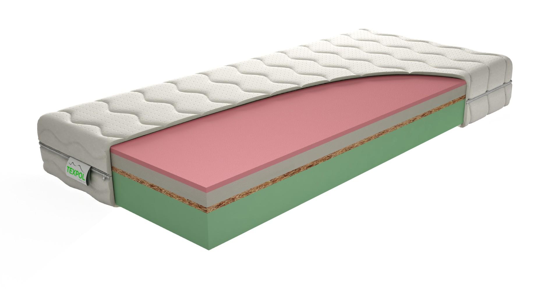 Texpol HARMONY - komfortný vysoký matrac s poťahom Aloe Vera, snímateľný poťah