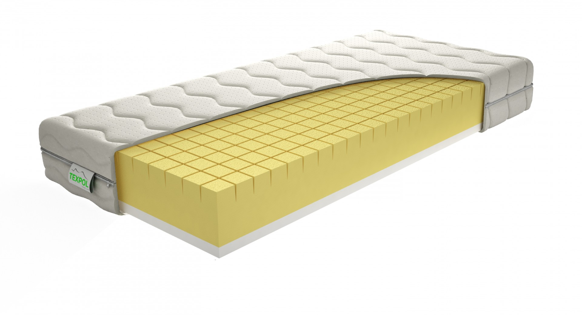 Texpol MEDICO - kvalitný antidekubitný matrac s poťahom Aloe Vera 100 x 220 cm, snímateľný poťah