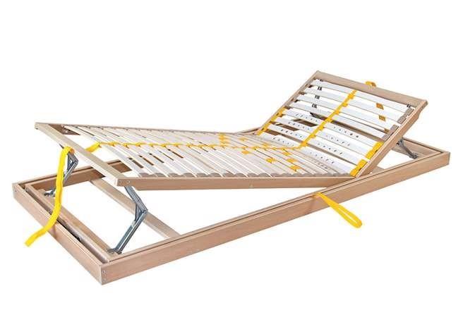 Ahorn DUOSTAR Kombi P HN ĽAVÝ - polohovateľný posteľný rošt výklopný z boku 120 x 220 cm