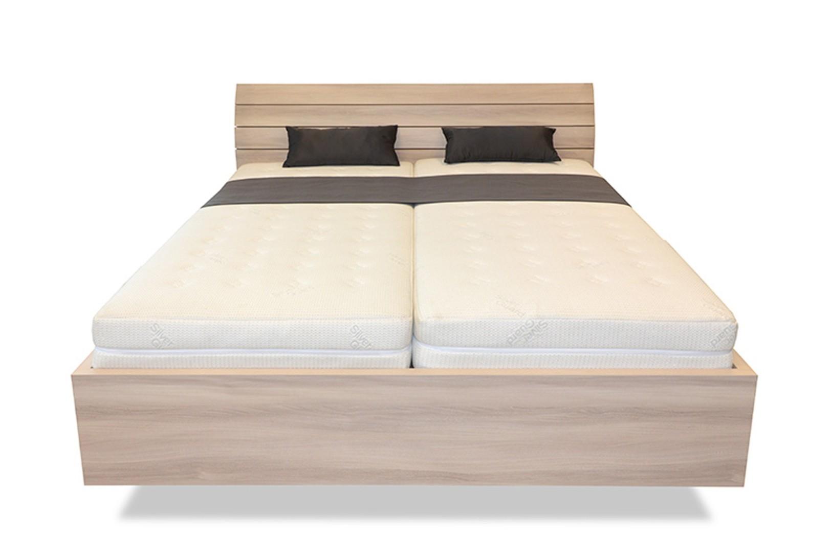 Ahorn SALINA Basic - dvojlôžková posteľ so strednicou 180 x 200 cm dekor dub čierny, 38 mm lamino