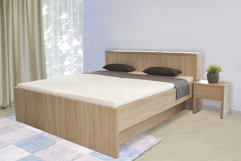 Ahorn TROPEA BOX PRI HLAVE - posteľ s praktickým úložným boxom za hlavou 180 x 190 cm, lamino