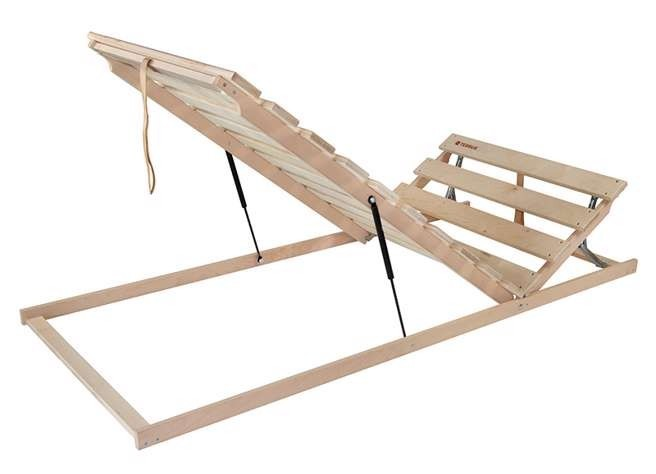 Ahorn Terrus H P - výklopný polohovateľný latový posteľný rošt 70 x 195 cm, brezové laty + brezové nosníky
