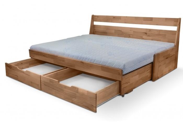 Moravia Comfort FENIX VARIO - variabilná posteľ z masívneho buku, buk masív