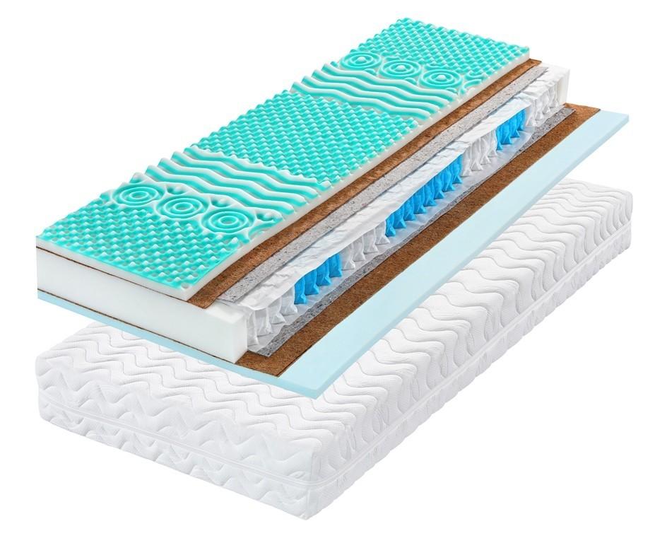 Tropico STREAM KOKOS 22 - tuhší matrac so zónovou zdravotnou profiláciou 80 x 200 cm, snímateľný poťah