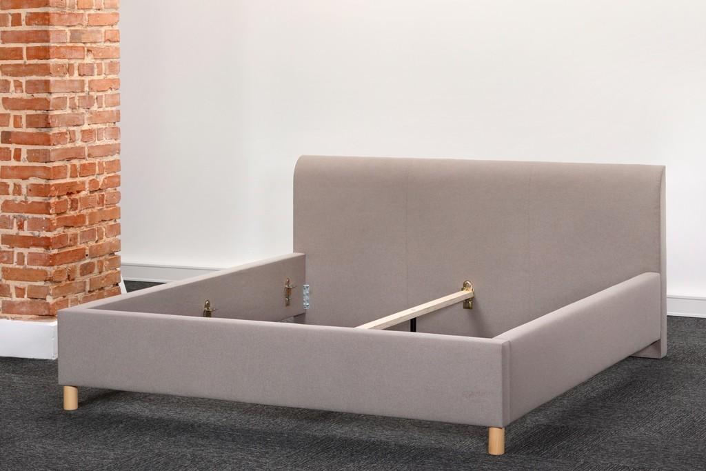 Slumberland DOVER - čalúnená posteľ s jemným dizajnom 160 x 200 cm, lamino