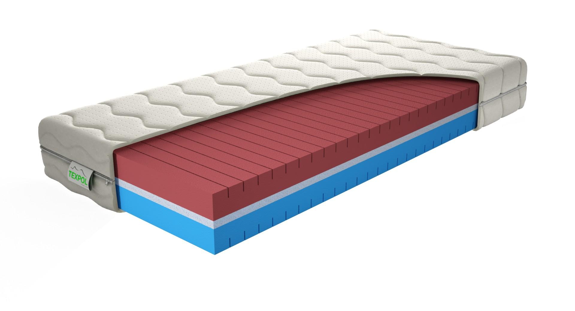 Texpol TARA - komfortný matrac s úpravou proti poteniu a s poťahom Tencel 90 x 195 cm, snímateľný poťah