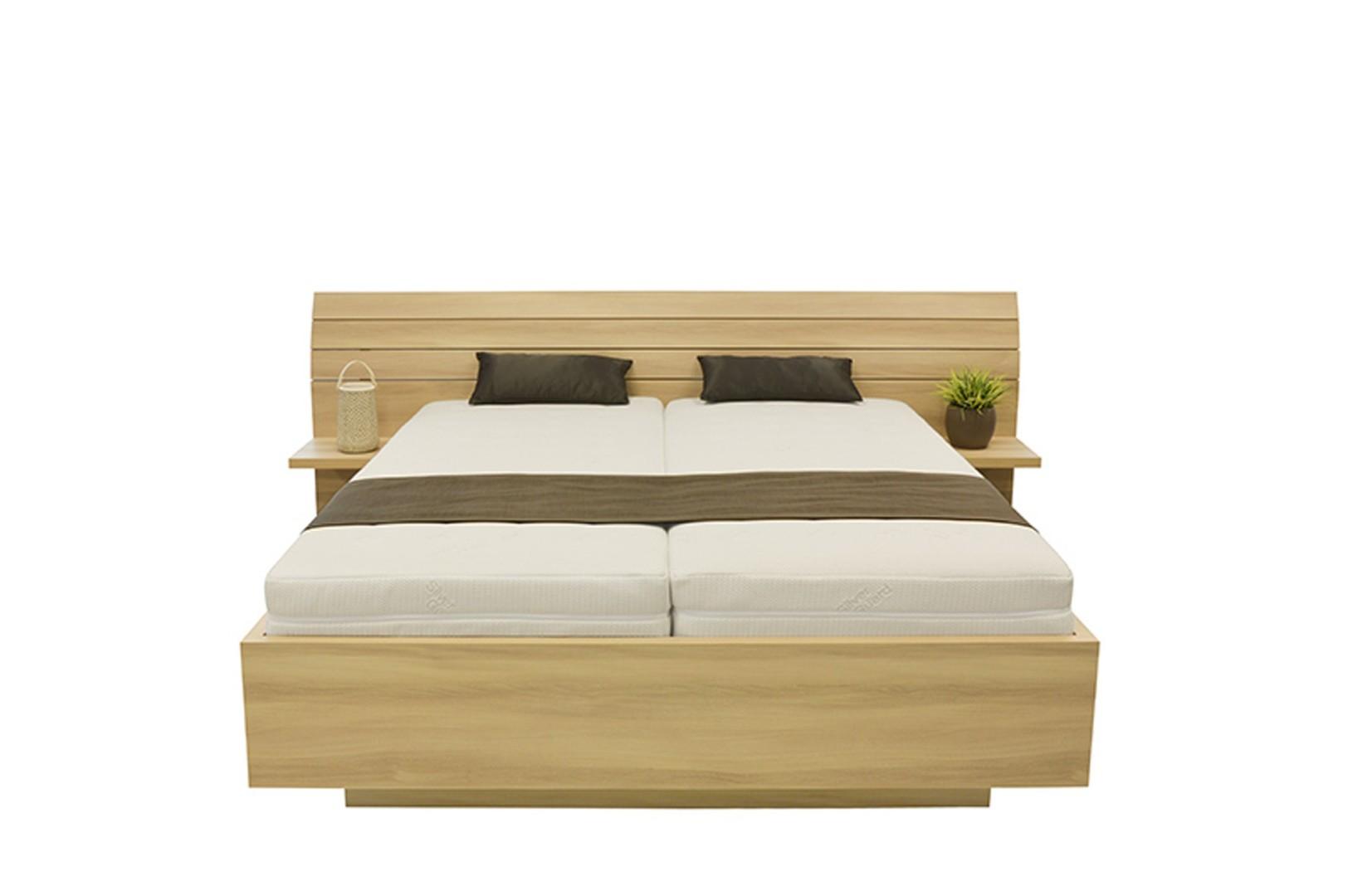Ahorn SALINA - dvojlôžková posteľ so širokým čelom 180 x 200 cm, 38 mm lamino