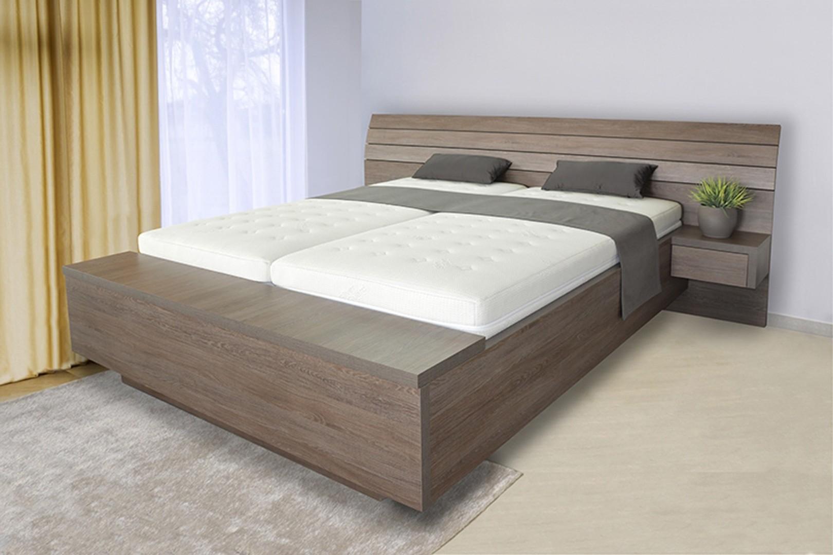 Ahorn SALINA BOX pri nohách - dvojlôžková posteľ s úložným boxom 180 x 200 cm dekor agát, 38 mm lamino