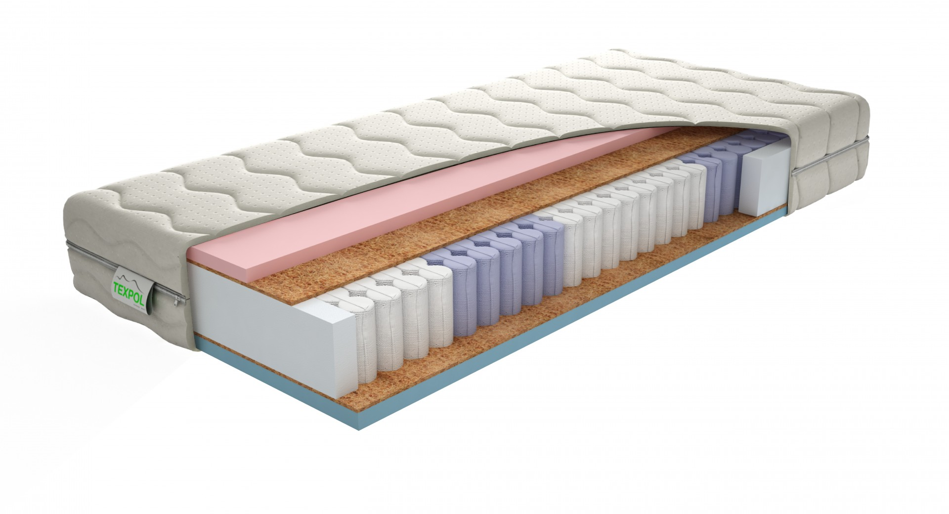 Texpol STELA LUX - luxusný taštičkový matrac s poťahom Aloe Vera, snímateľný poťah