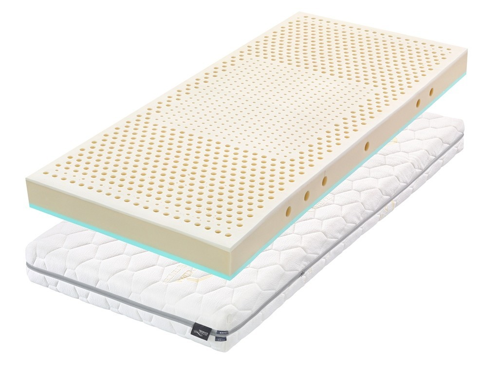 Tropico ŠÁRKA 15 cm - matrac vhodný pre deti s bio latexom a HR penou 90 x 195 cm, snímateľný poťah