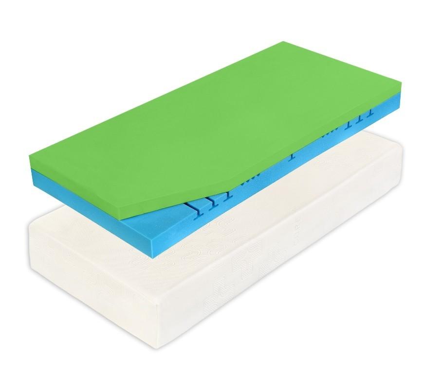 Curem CUREM C2000 Style - tuhší pamäťový matrac 85 x 200 cm 2 ks, snímateľný poťah