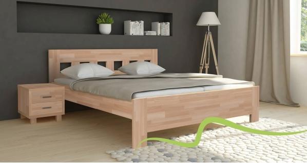 Texpol JANA SENIOR - masívna buková posteľ 90 x 200 cm, buk masív
