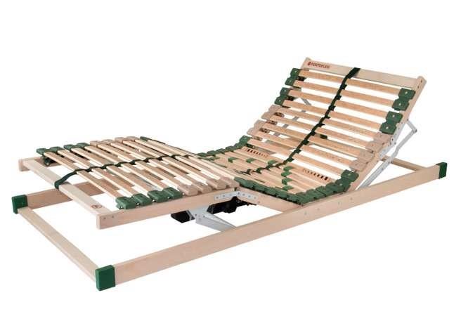 Ahorn PORTOFLEX MOTOR MEGA - motorový posteľný rošt s nosnosťou až do 150 kg 100 x 190 cm, brezové lamely + brezové nosníky