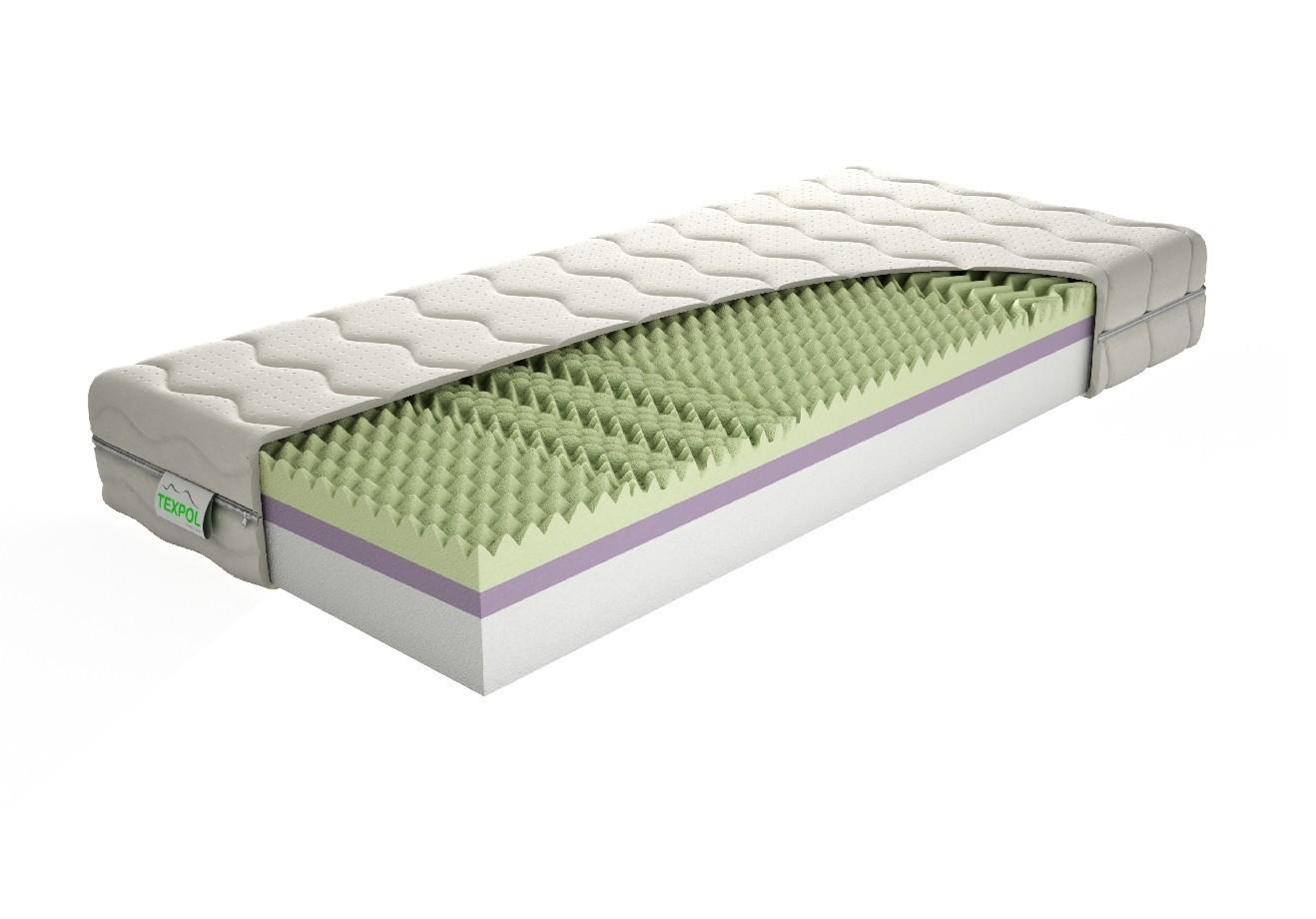 Texpol Sendvičový matrac ANETA - tvrdý obojstranný matrac 90 x 200 cm, snímateľný poťah