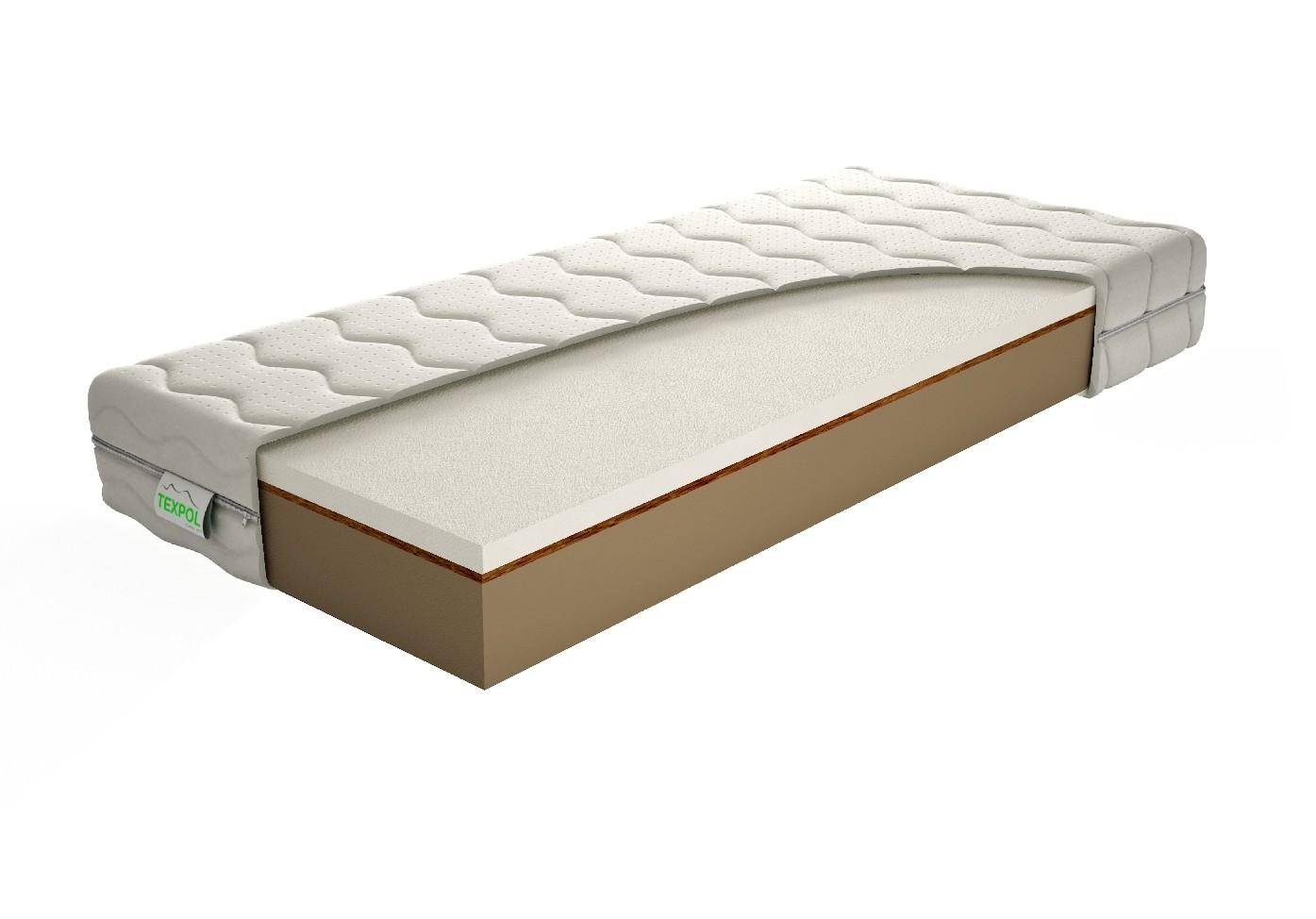Texpol PEGAS PLUS - pamäťový matrac s konským vlásiom 85 x 200 cm, snímateľný poťah