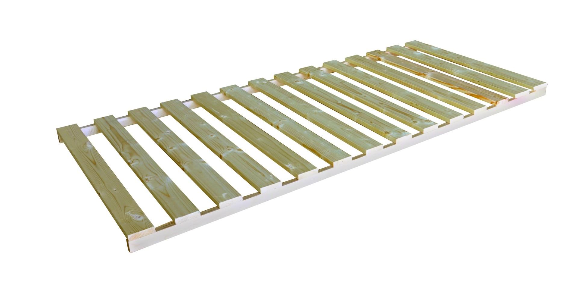 Texpol MASÍV ŠTANDARD V RÁME - latový rošt s nosnosťou 120 kg 120 x 200 cm, smrek