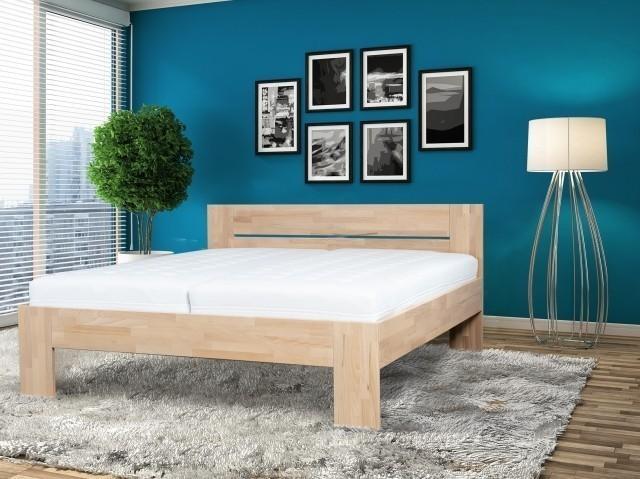 Ahorn Masívna buková posteľ VENTO 90 x 200 cm, buk masív
