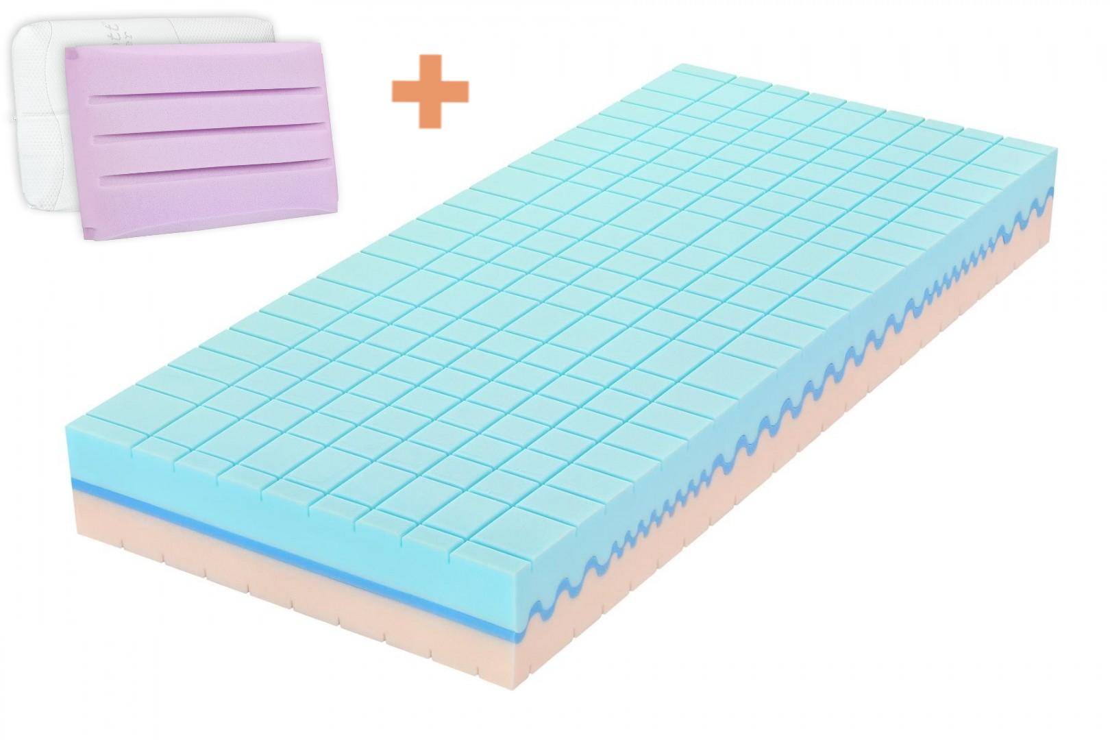 Tropico MEDICAL CONCEPT - matrac pre boľavý chrbát a kĺby + vankúš Antibacterial Gel ako darček 90 x 200 cm 200 x 200 cm, snímateľný poťah