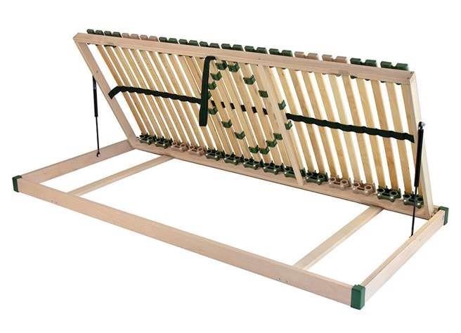 Ahorn PORTOFLEX Kombi P MEGA PRAVÝ - výklopný lamelový rošt 100 x 190 cm, brezové lamely + brezové nosníky