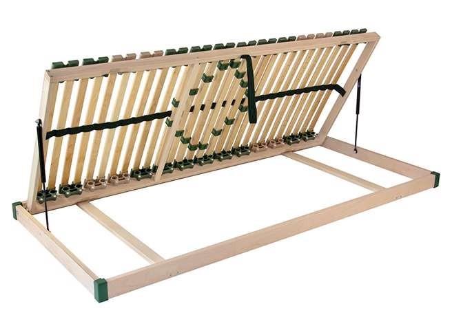 Ahorn PORTOFLEX Kombi P MEGA ĽAVÝ - výklopný lamelový rošt 100 x 190 cm, brezové lamely + brezové nosníky