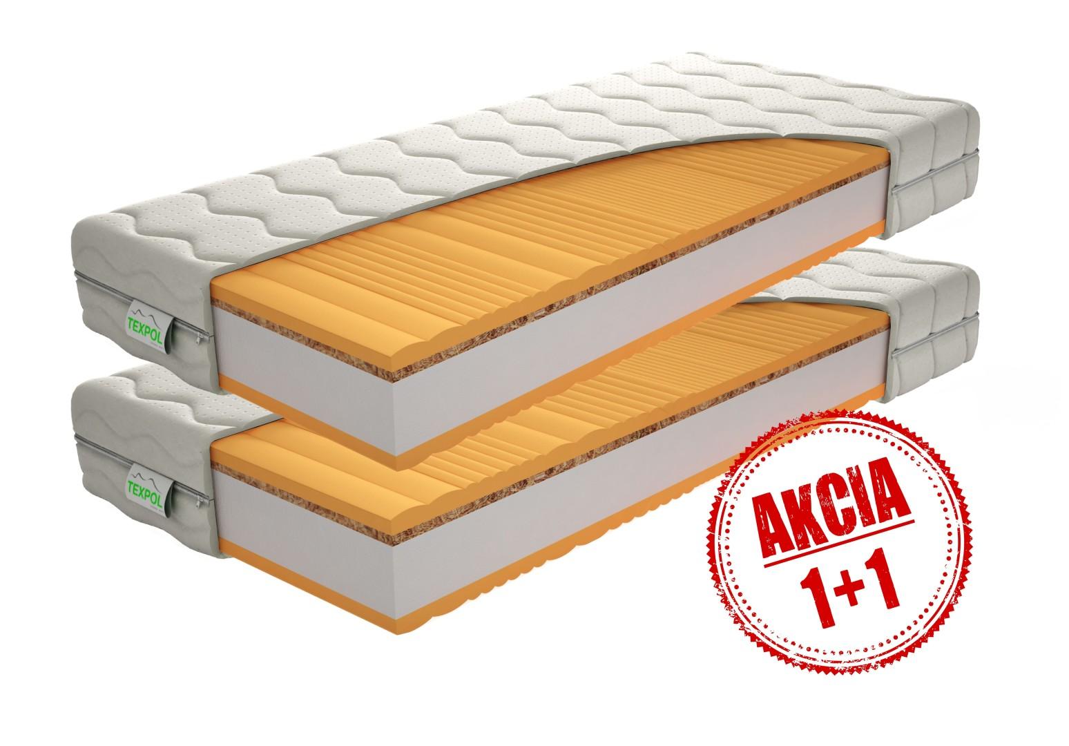 Texpol BRÁVIA - luxusný partnerský matrac v akcii 1+1, snímateľný poťah