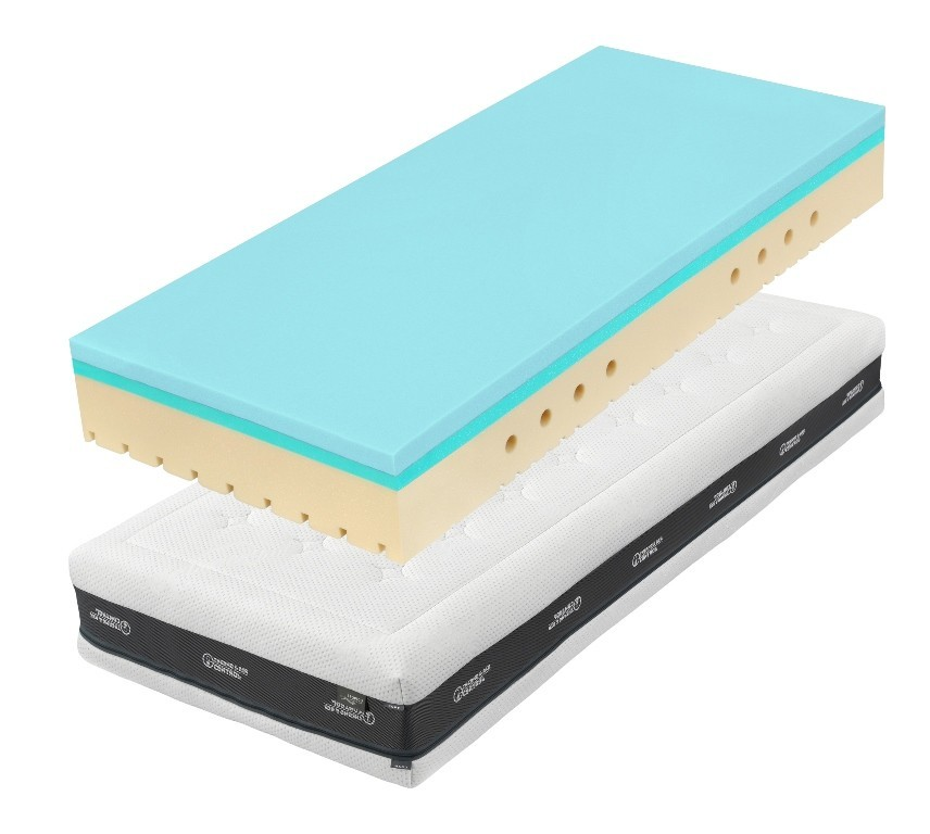Tropico SUPER FOX BLUE Classic 24 cm - antibakteriálny matrac s hybridnou a HR penou 80 x 195 cm, snímateľný poťah